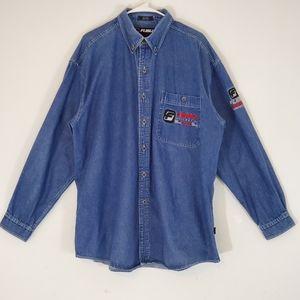 Vintage Fubu Jeans Button Up Shirt